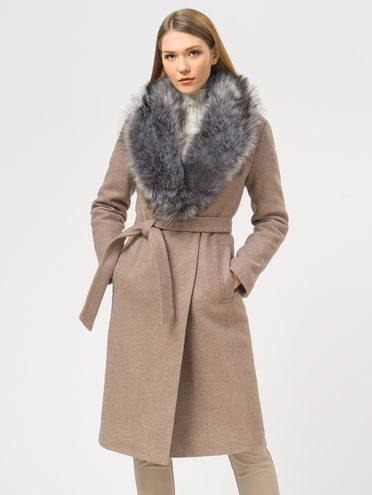 Текстильное пальто 35% шерсть, 65% полиэстер, цвет светло-коричневый, арт. 13109097  - цена 5290 руб.  - магазин TOTOGROUP