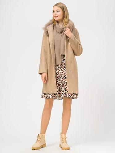 Текстильное пальто 35% шерсть, 65% полиэстер, цвет светло-коричневый, арт. 13109206  - цена 5590 руб.  - магазин TOTOGROUP
