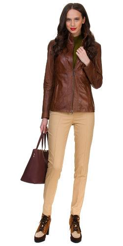 Кожаная куртка кожа овца, цвет светло-коричневый, арт. 13700050  - цена 12990 руб.  - магазин TOTOGROUP