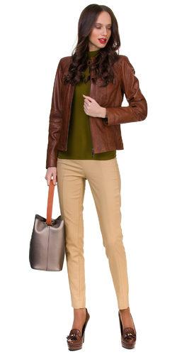 Кожаная куртка кожа овца, цвет светло-коричневый, арт. 13700056  - цена 12990 руб.  - магазин TOTOGROUP