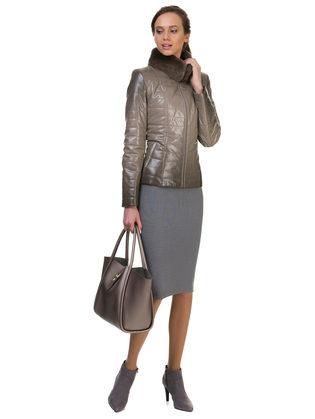 Кожаная куртка эко кожа 100% П/А, цвет светло-коричневый, арт. 13700156  - цена 7990 руб.  - магазин TOTOGROUP
