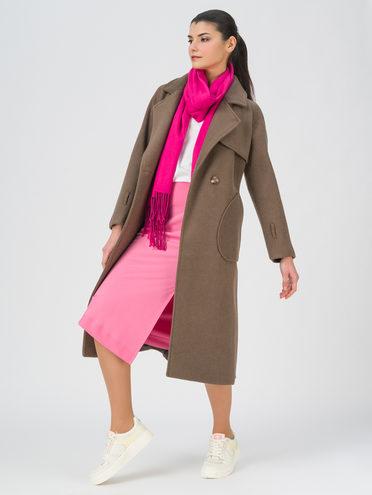 Текстильное пальто 35% шерсть, 65% полиэстер, цвет светло-коричневый, арт. 13711392  - цена 4990 руб.  - магазин TOTOGROUP