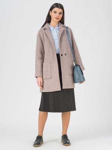 Текстильная куртка 35% шерсть, 65% полиэстер, цвет светло-коричневый, арт. 13711397  - цена 5590 руб.  - магазин TOTOGROUP