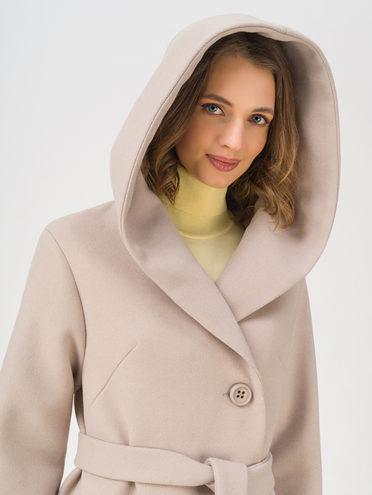 Текстильное пальто 35% шерсть, 65% полиэстер, цвет светло-коричневый, арт. 13711411  - цена 6990 руб.  - магазин TOTOGROUP