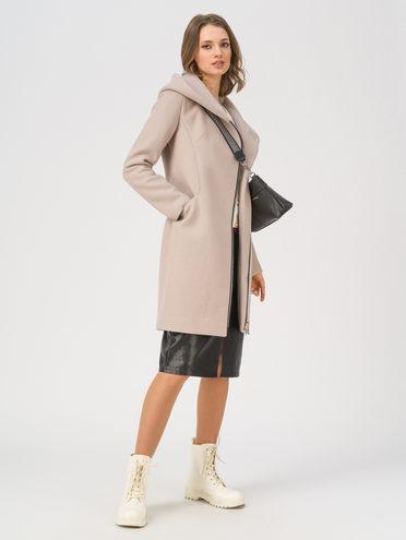 Текстильное пальто 35% шерсть, 65% полиэстер, цвет светло-коричневый, арт. 13711412  - цена 7990 руб.  - магазин TOTOGROUP
