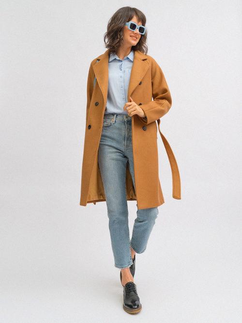 Текстильное пальто артикул 13719893/42 - фото 4