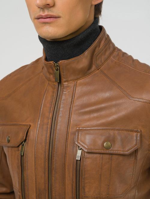 Кожаная куртка артикул 13809229/48 - фото 3