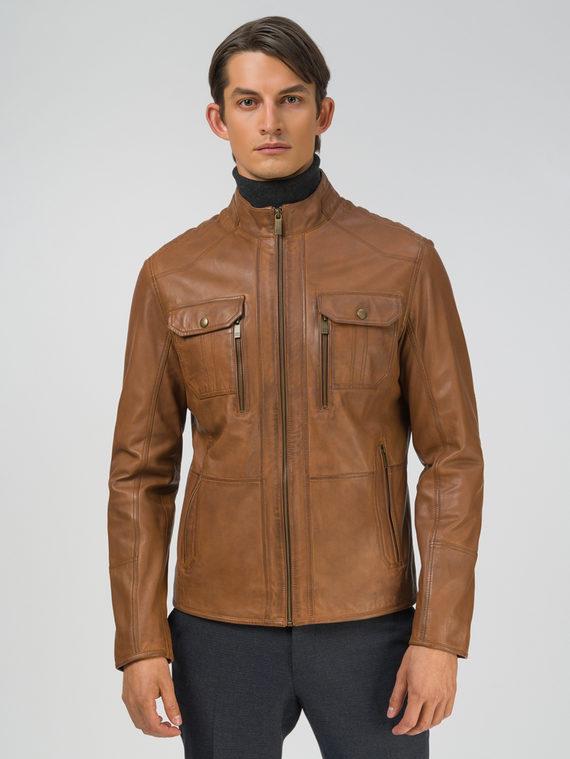 Кожаная куртка кожа, цвет светло-коричневый, арт. 13809229  - цена 11990 руб.  - магазин TOTOGROUP