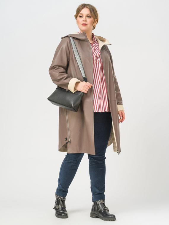 Кожаное пальто эко-кожа 100% П/А, цвет светло-коричневый, арт. 13809937  - цена 8990 руб.  - магазин TOTOGROUP
