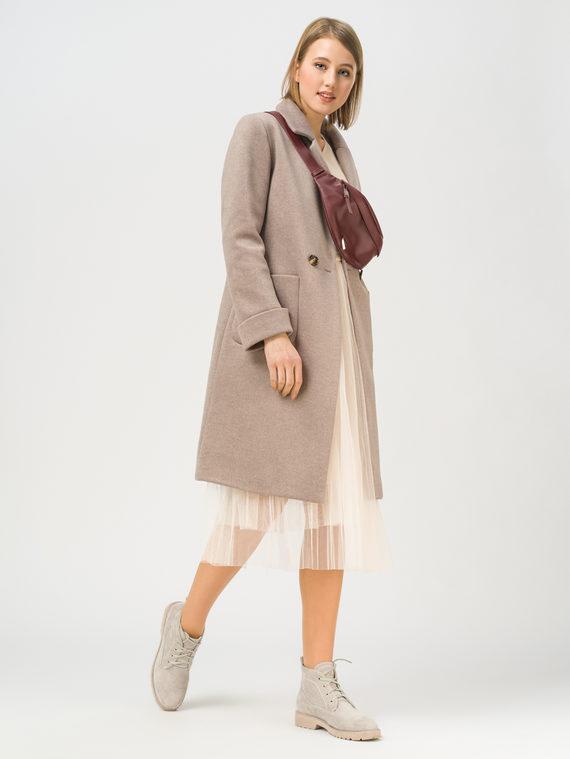 Текстильное пальто 35% шерсть, 65% полиэстер, цвет светло-коричневый, арт. 13809968  - цена 4990 руб.  - магазин TOTOGROUP
