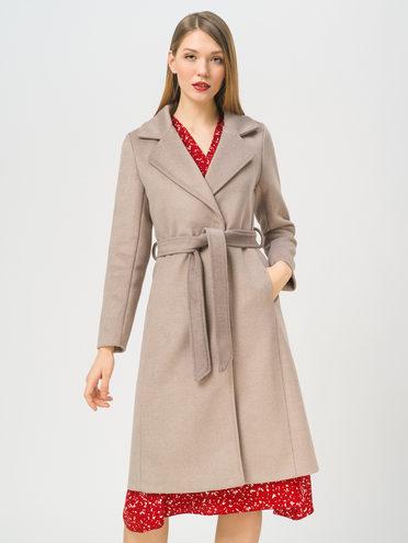 Текстильное пальто 35% шерсть, 65% полиэстер, цвет светло-коричневый, арт. 13809969  - цена 6290 руб.  - магазин TOTOGROUP