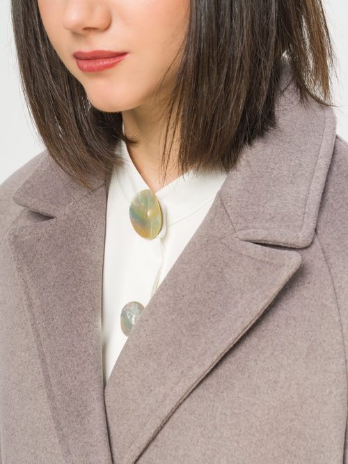 Текстильное пальто артикул 13809970/44 - фото 4