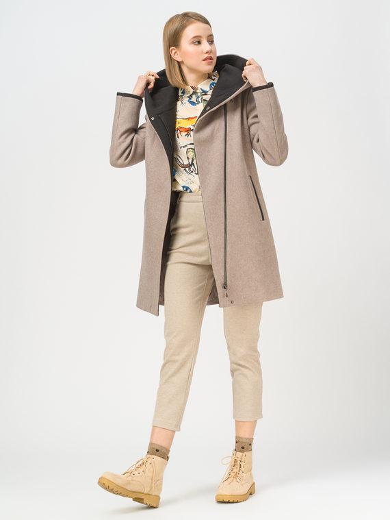 Текстильная куртка 35% шерсть, 65% полиэстер, цвет светло-коричневый, арт. 13809974  - цена 7990 руб.  - магазин TOTOGROUP