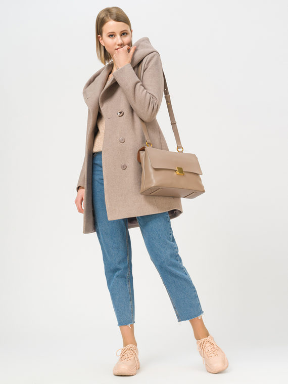 Текстильная куртка 35% шерсть, 65% полиэстер, цвет светло-коричневый, арт. 13809980  - цена 6630 руб.  - магазин TOTOGROUP