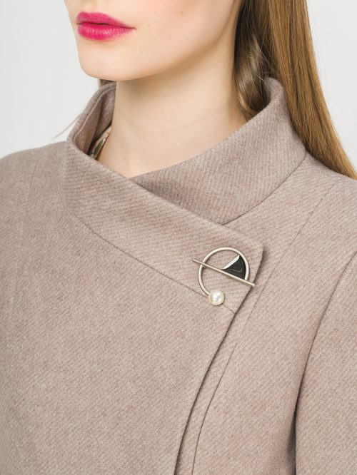 Текстильное пальто артикул 13810098/50 - фото 4