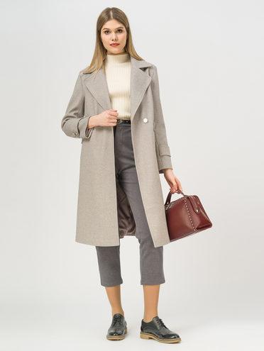 Текстильное пальто 35% шерсть, 65% полиэстер, цвет светло-коричневый, арт. 13810113  - цена 5590 руб.  - магазин TOTOGROUP