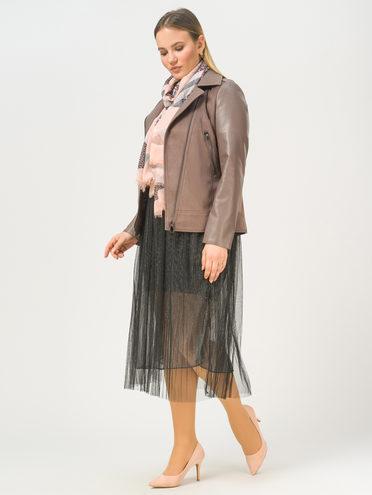 Кожаная куртка эко-замша 100% П/А, цвет светло-коричневый, арт. 13810218  - цена 6990 руб.  - магазин TOTOGROUP