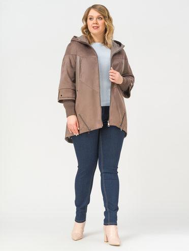 Кожаная куртка эко-замша 100% П/А, цвет светло-коричневый, арт. 13810224  - цена 6630 руб.  - магазин TOTOGROUP