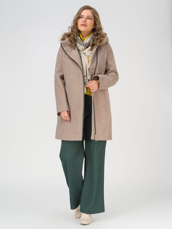 Текстильное пальто 35% шерсть, 65% полиэстер, цвет светло-коричневый, арт. 13810655  - цена 8990 руб.  - магазин TOTOGROUP