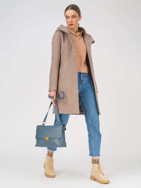 Текстильное пальто 35% шерсть, 65% полиэстер, цвет светло-коричневый, арт. 13810656  - цена 5890 руб.  - магазин TOTOGROUP