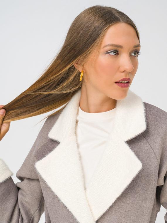 Текстильное пальто 35% шерсть, 65% полиэстер, цвет светло-коричневый, арт. 13810739  - цена 4990 руб.  - магазин TOTOGROUP