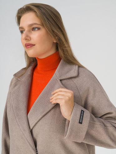 Текстильное пальто 35% шерсть, 65% полиэстер, цвет светло-коричневый, арт. 13810740  - цена 5890 руб.  - магазин TOTOGROUP