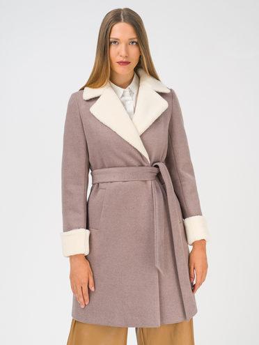 Текстильное пальто 35% шерсть, 65% полиэстер, цвет светло-коричневый, арт. 13810741  - цена 3990 руб.  - магазин TOTOGROUP