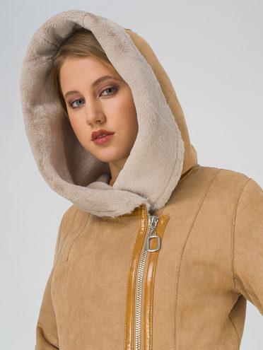 Дубленка эко-замша 100% П/А, цвет светло-коричневый, арт. 13810853  - цена 9990 руб.  - магазин TOTOGROUP