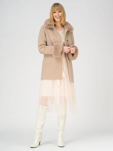 Текстильное пальто 70% полиэстер, 20% шесть, 10% вискоза, цвет светло-коричневый, арт. 13810868  - цена 9490 руб.  - магазин TOTOGROUP