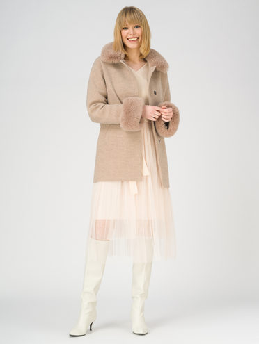 Текстильное пальто 70% полиэстер, 20% шесть, 10% вискоза, цвет светло-коричневый, арт. 13810868  - цена 5890 руб.  - магазин TOTOGROUP