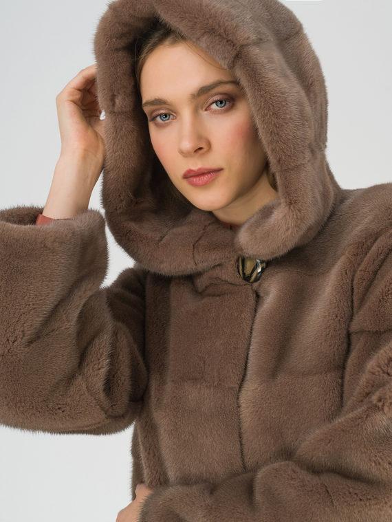 Шуба из норки мех норка, цвет светло-коричневый, арт. 13810977  - цена 75990 руб.  - магазин TOTOGROUP