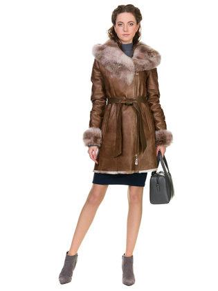 Дубленка дуб. овчина, цвет светло-коричневый, арт. 13902787  - цена 26990 руб.  - магазин TOTOGROUP