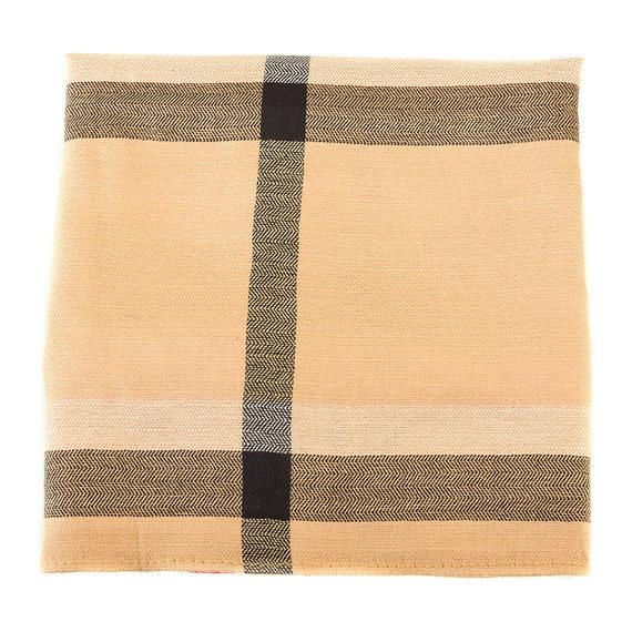 Шарф 60% хлопок, 40% шерсть, цвет светло-коричневый, арт. 13903546  - цена 490 руб.  - магазин TOTOGROUP
