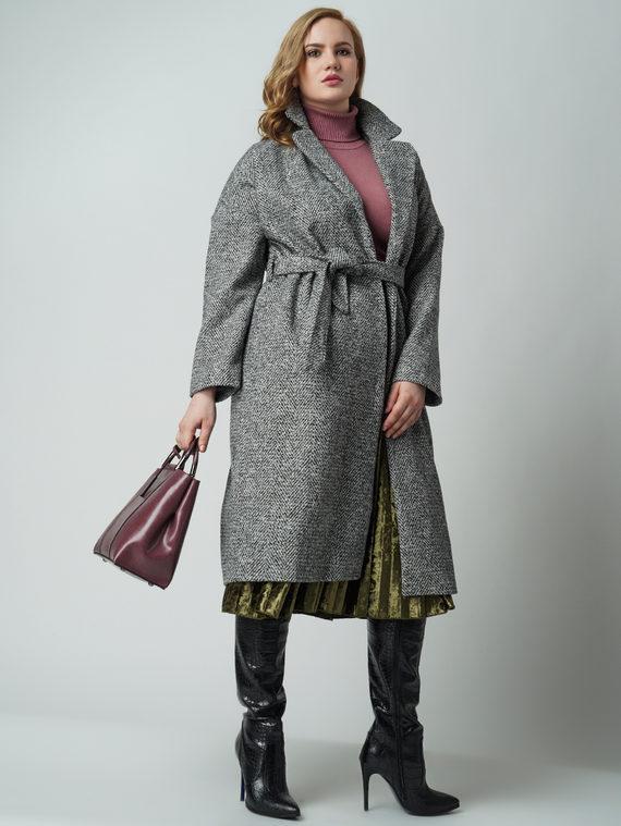 Текстильное пальто 30%шерсть, 70% п\а, цвет серый, арт. 14005557  - цена 4990 руб.  - магазин TOTOGROUP