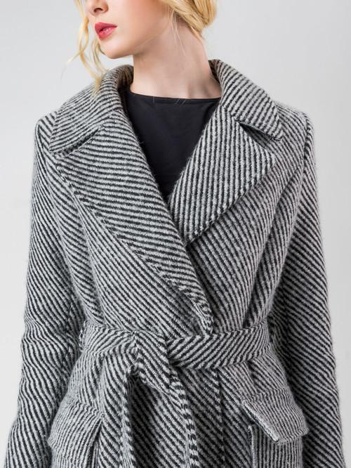 Текстильное пальто артикул 14005558/44 - фото 4