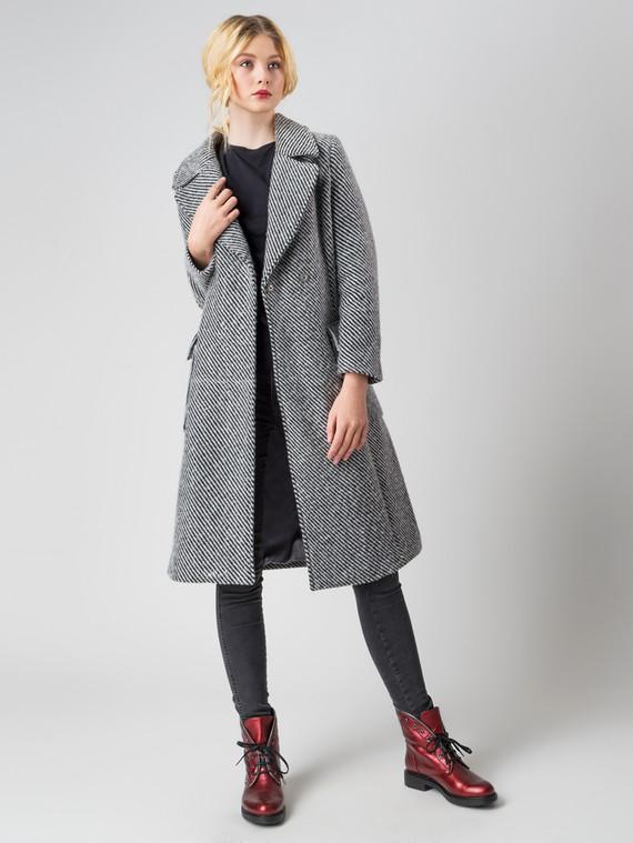 Текстильное пальто 30%шерсть, 70% п\а, цвет серый, арт. 14005558  - цена 4260 руб.  - магазин TOTOGROUP