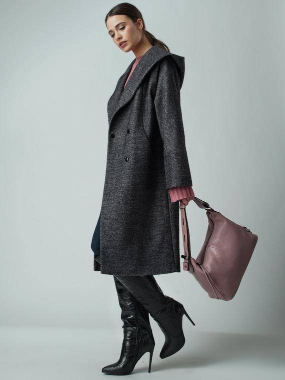 Текстильное пальто 30%шерсть, 70% п\а, цвет серый, арт. 14005674  - цена 5590 руб.  - магазин TOTOGROUP
