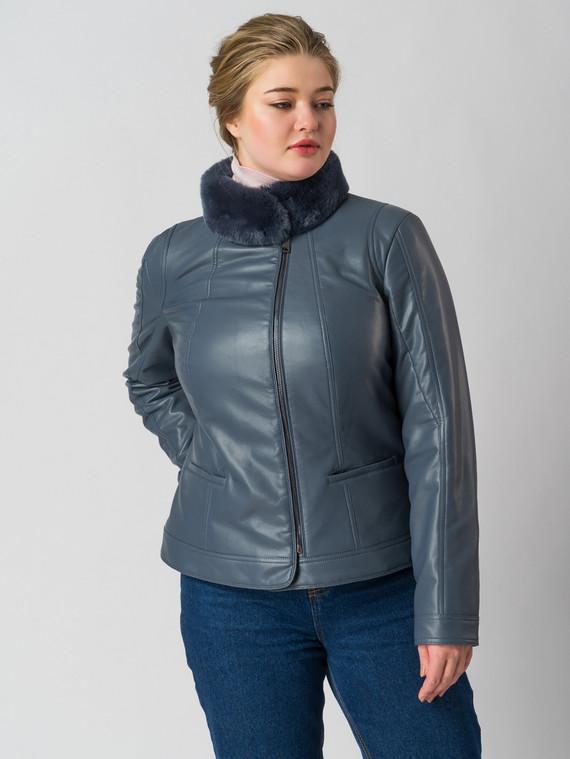Кожаная куртка эко кожа 100% П/А, цвет голубой, арт. 14005776  - цена 7490 руб.  - магазин TOTOGROUP