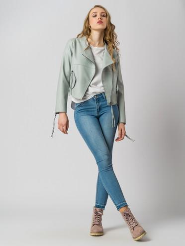Кожаная куртка эко-кожа 100% П/А, цвет светло-зеленый, арт. 14005781  - цена 2990 руб.  - магазин TOTOGROUP