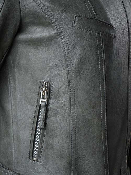 Кожаная куртка артикул 14005786/40 - фото 4