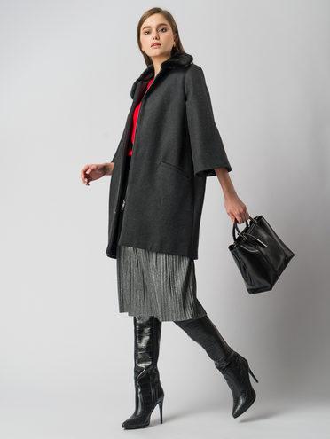 Текстильное пальто 30%шерсть, 70% п\а, цвет серый, арт. 14005822  - цена 7490 руб.  - магазин TOTOGROUP