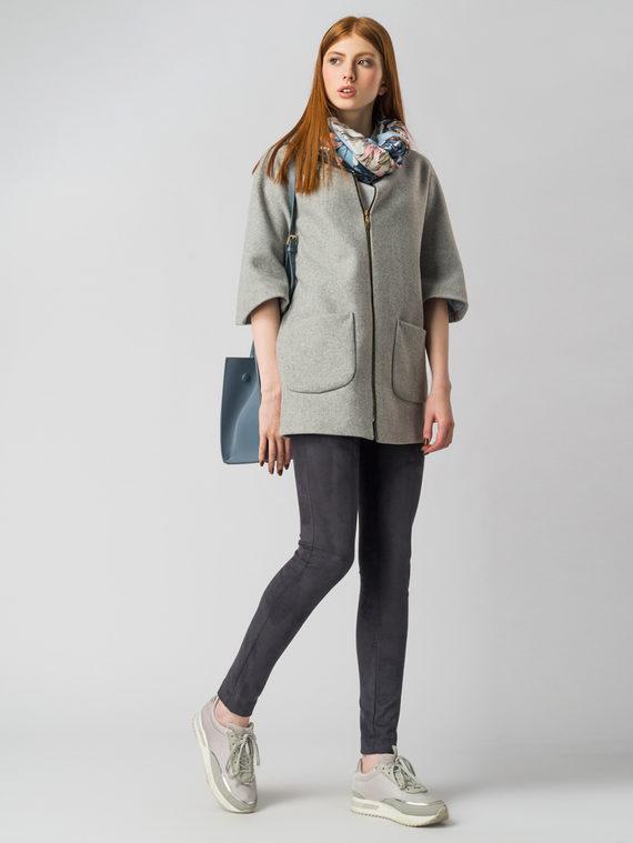 Текстильное пальто 30%шерсть, 70% п\а, цвет серый, арт. 14005824  - цена 4990 руб.  - магазин TOTOGROUP