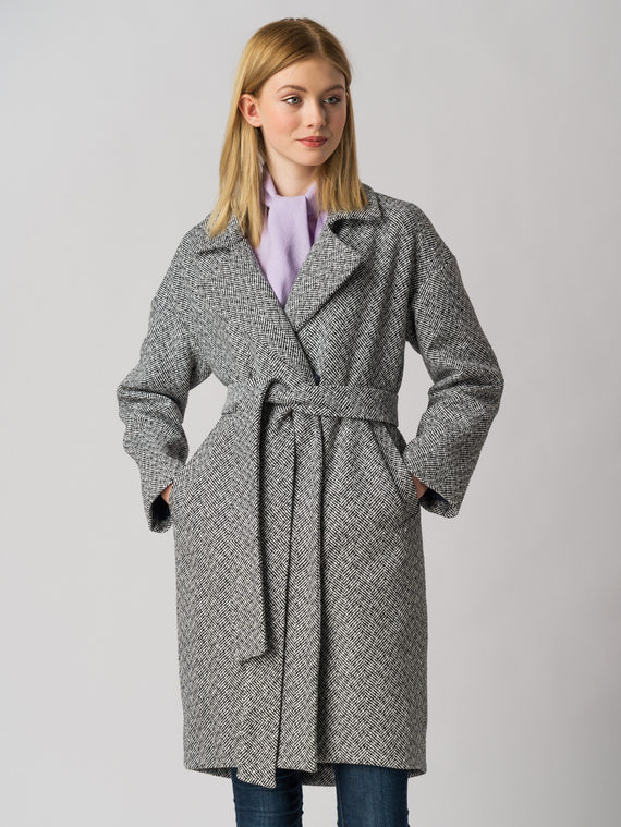Текстильное пальто 30%шерсть, 70% п.э, цвет серый, арт. 14005826  - цена 3990 руб.  - магазин TOTOGROUP