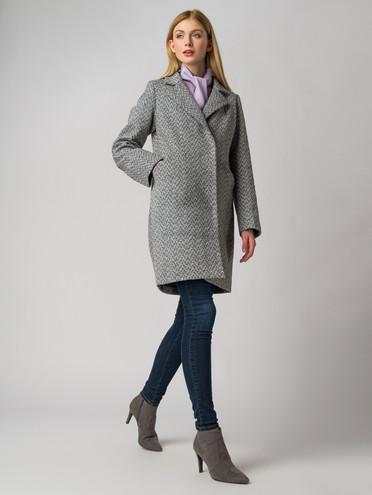 Текстильное пальто 30%шерсть, 70% п.э, цвет серый, арт. 14005828  - цена 4490 руб.  - магазин TOTOGROUP
