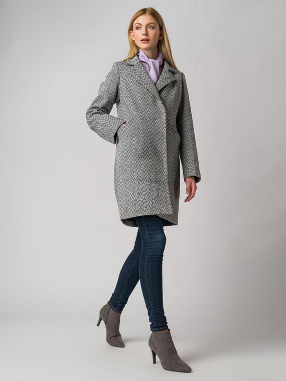 Текстильное пальто 30%шерсть, 70% п.э, цвет серый, арт. 14005828  - цена 3790 руб.  - магазин TOTOGROUP