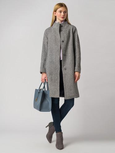 Текстильное пальто 30%шерсть, 70% п.э, цвет серый, арт. 14005829  - цена 4260 руб.  - магазин TOTOGROUP