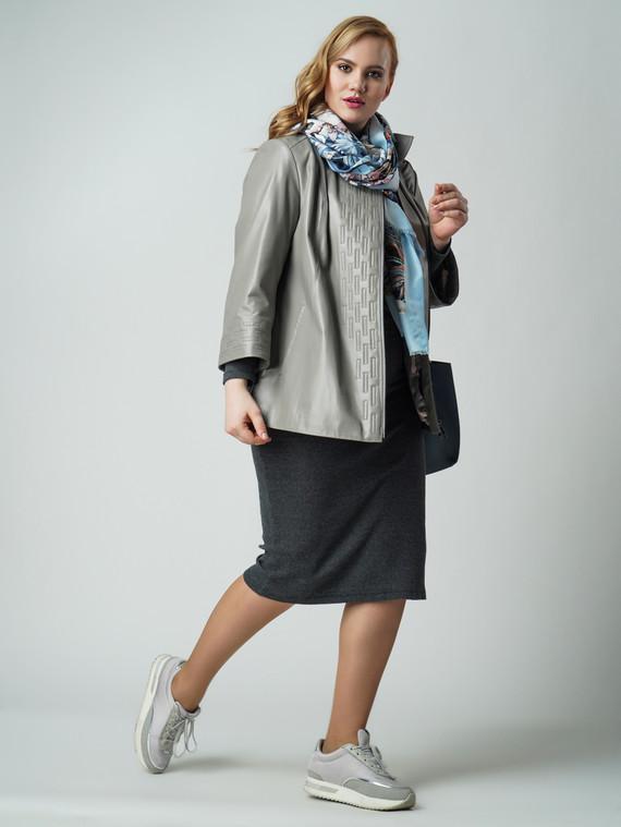 Кожаная куртка кожа , цвет серый, арт. 14005876  - цена 14990 руб.  - магазин TOTOGROUP