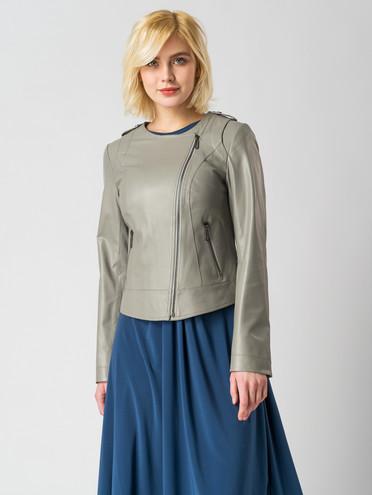 Кожаная куртка кожа, цвет серый, арт. 14005898  - цена 7490 руб.  - магазин TOTOGROUP
