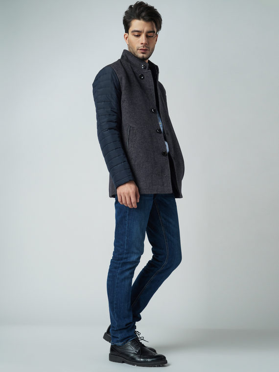 Текстильная куртка 51% п/э,49%шерсть, цвет серый, арт. 14005950  - цена 4490 руб.  - магазин TOTOGROUP
