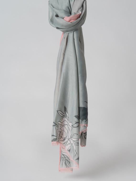Шарф 100% бамбук, цвет серый, арт. 14005983  - цена 740 руб.  - магазин TOTOGROUP